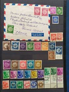 F087. ISRAEL. 3 PAGES TIMBRES OBLITERES