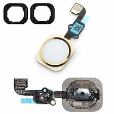 For iPhone 6S Home Button White & Gold With Flex Cable & Seal Replacement
