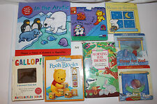 Interactive Board Book LOT  Push Pull Lift the Flap 3D Activity Look Through Out