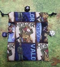 Military Bravery, Honor and Valor dice bag