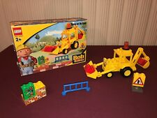 Lego DUPLO 3272 BOB THE BUILDER SCOOP ON ROAD PLAYSET-Yellow Tractor Loader