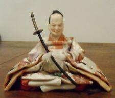 Japanese Hina Doll-mâle-avec épée VINTAGE 14 cm-objet de collection-MADE IN JAPAN