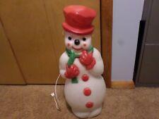 Vintage Snowman Blow Mold Holiday Christmas 1973 Carolina Enterprises Light Up