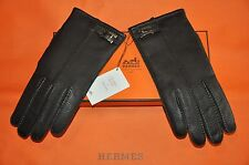 AUTHENTIC NEW MEN'S HERMES BROWN DEER LEATHER GLOVES,size 9.5