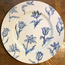 Vintage Royal Stafford Blue Tulipa dinner plates