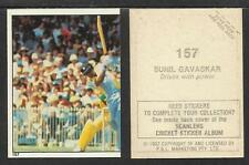 AUSTRALIA 1982 SCANLENS CRICKET STICKERS SERIES I SUNILGAVASKAR  (INDIA) # 157