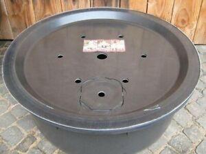 PE Becken mit GFK Deckel Ø 90 cm 150 Liter für Quellsteine Wasserspiele Zierbrun