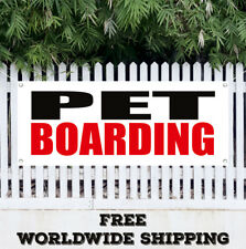 Banner Vinyl PET BOARDING Advertising Sign Flag Dogs Cats Animal Grooming Shop