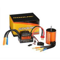 GoolRC Waterproof 3650 4300KV Brushless Motor w/ 60A ESC for 1/10 RC Truck Q5A4