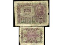 AUTRICHE  20  kronen   1922    ( 1001 )
