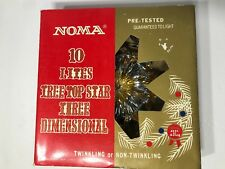 Vintage Noma Electric Twinkling Tincle Tree Top Star Christmas Tree Topper