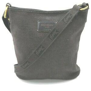 Yves Saint Laurent Shoulder Bag  Black Canvas 915293