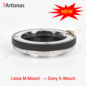 7artisans LM-E Close Focus Lens Adapter Ring for Leica M-Mount to Sony E-Mount