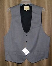 Stubbs Western Wear Cowboy Basket Weave Vest With Metal Buttons NWT Size XL