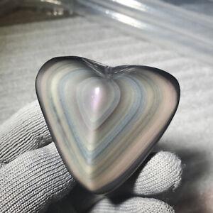 72g Mexican volcanic glass rainbow obsidian crystal heals