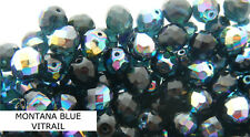 100 Pcs Wholesale 4mm Czech Glass Fire Polished Faceted Beads-montana Vitrail