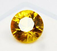 CERTIFIED Natural Beautiful Rare Yellow Ceylon Sapphire 5 Ct Loose Gemstone