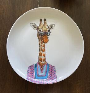 Rachel Kozlowski Dapper Animal Salad Plate - Giraffe