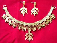 Indian Gold Plated Necklace Bollywood Traditional Ethnic Bridal jewelry Set