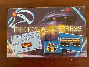 32504 BRIO Wooden Train Polar Express Caboose & Elf Hand Car! Thomas! NEW