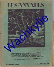 Les annales n°2325 du 01/01/1929 Séville Carco Ferdinand Bac Mortane