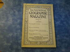 ANTIQUE NATIONAL GEOGRAPHIC August 1919 GEOGRAPHY OF GAMES Weavers of World VGC