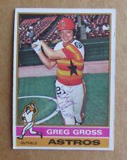 1976 TOPPS BASEBALL GREG GROSS #171 AUTOGRAPHED SIGNED CARD HOUSTON ASTROS