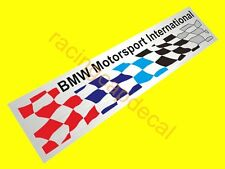 "6"" 152mm BMW checkered flag print decal sticker M motorsport 1M M2 M3 M4 M5 M6 X"