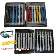 28x Assorted T-Shank Jig Saw Blades Set Cutting Tools For Wood Metal Steel Panel