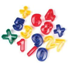 """14 pc Clay Dough Cutters NUMBERS 1 3/4"""" Tall Air Dry Polymer"""