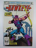 1983 Marvel Comics Ltd Series HAWKEYE #1 Vol 1 The Mysterious Mockingbird VF