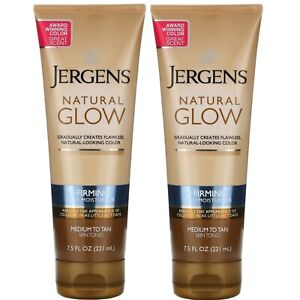 Jergens Natural Glow Firming Moisturizer Medium To Tan 7.5 oz  each  (2 Pack)