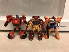 Transformers Legends Class Rodimus, Huffer & Roadburn (chase) Lot