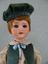 "New Listing17"" antique bisque head composition German Schoenau Hofmeister 1909 Boy Doll"