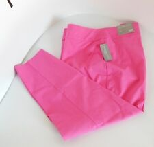 PANTS 3X 24W  Signature Slimming Panel Moderate Curvy Ankle Pant Pink CJ BANKS