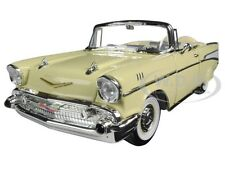 1957 CHEVROLET BEL AIR CONVERIBLE CREAM 1:18 MODEL CAR BY ROAD SIGNATURE 92108