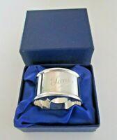 Sterling Silver Napkin Ring, Toni, Hallmarked Birmingham 1988