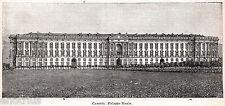 Reggia di Caserta. Palazzo Reale.Terra di Lavoro.Stampa Antica.Passepartout.1901