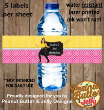 Personalised Emma Wiggle Birthday Water Bottle Sticker Labels - 5 per Page