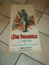 Locandina,1963,I DUE ORFANELLI,TOTO',MARIO MATTOLI,NAPOLEONE