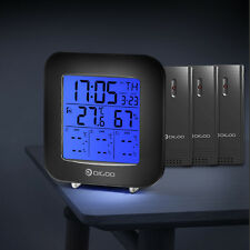 Digoo Digital 3-channelsthermometer Hygromètre in&out Capteur Réveil Snooze
