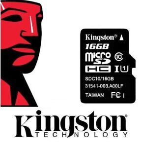 Kingston Micro SD 16GB SDHC Memory Card Microsd TF Mobile Phone Class 4