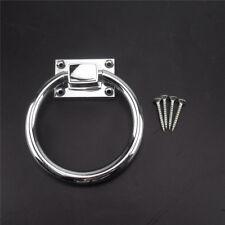 Shiny Silver Drop Pull Ring Wooden Door Knocker Chair Pulls Handle 98*110*20MM