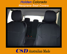 Seat Cover Holden Colorado Heavy Duty Neoprene FRONT and REAR Standard Design