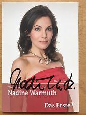 Nadine Warmuth AK ARD Sturm der Liebe Autogrammkarte original signiert