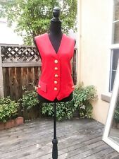 Red and Navy SANDRA OW-WING FOR N.R.1 Vintage Waistcoat Military Style Vest