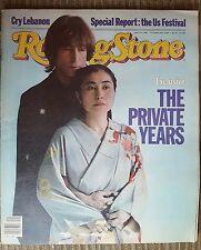 John Lennon Yoko Ono Rolling Stone Newspaper Magazine #380 Oct 14,1982