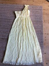 BCBG Maxazria yellow silk gown size 12 U.S., 14-16uk