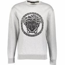 VERSACE Leather Medusa Patch Sweatshirt SZM-L New TOP Hoodie