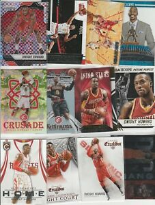 DWIGHT HOWARD LOT (52) DIFFERENT W/ 21 INSERTS PRIZM REFRACTOR CAMO CRUSADE